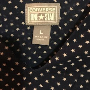 Converse Tops - Converse Blue Sleeveless Blouse with star detail